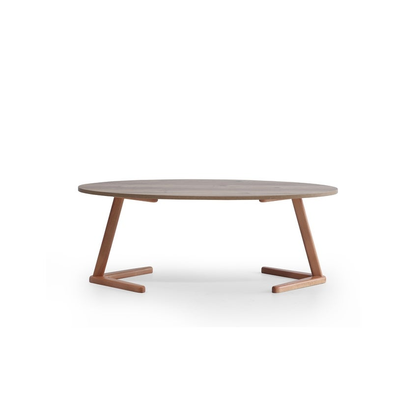 Ellipso Modern Contemporary Coffee Table 47 X20 X17 On Sale Overstock 31695921