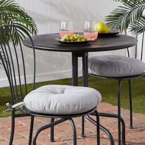 Outdoor 15-inch Round Bistro Chair Cushion (Set of 2)