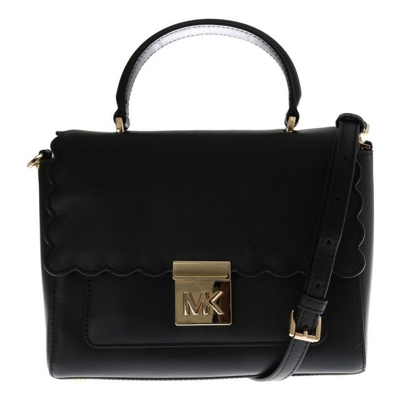 Shop Michael Kors Handbags Black MINDY Satchel Crossbody Bag - One ... 389b441456523