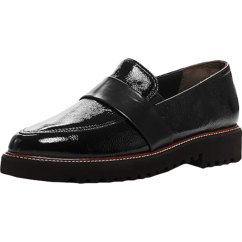Paul Green Womens Beagan Penny Loafers Patent Leather Slip On - Black Patent - 5.5 Medium (B,M)