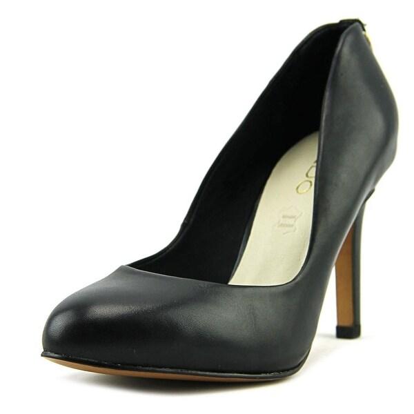 Aldo Nedeassi Women Round Toe Leather Black Heels