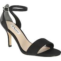 Nina Women's Venetia Sandal Black Luster Satin