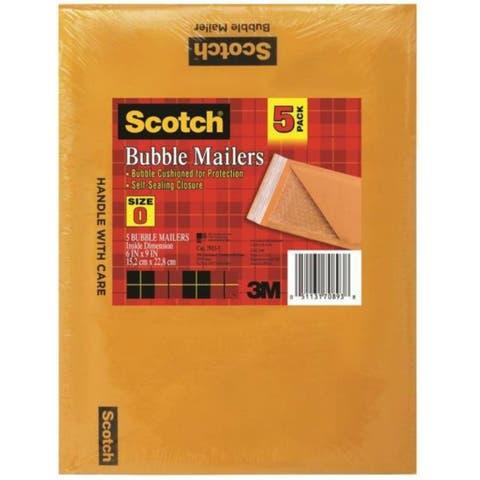 "Scotch 7913-5 Puncture Resistant Bubble Cushioned Mailer, 6"" x 9"""