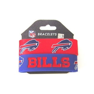 Buffalo Bills Rubber Wrist Band (Set of 2) - NFL