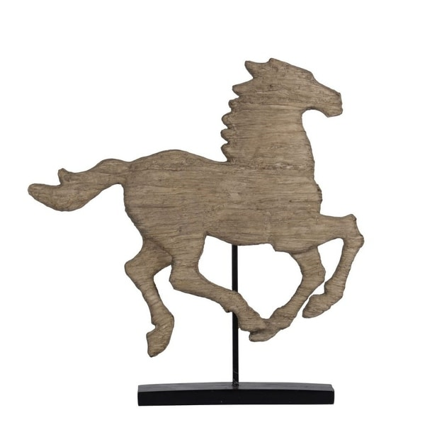 "19.5"" Brown and Black Defiance Spirited Horse Large Horse Accent - N/A"