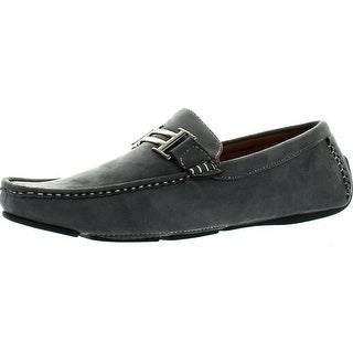 Reverse Mens Faux Suede Fashion Euro Loafers Shoes