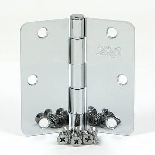 Stone Mill Hardware - 3.5-inch Polished Chrome Door Hinge (Pack of 2)
