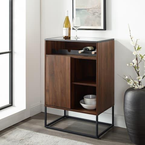 Carbon Loft Glass Top, 1-Door Bar Cabinet