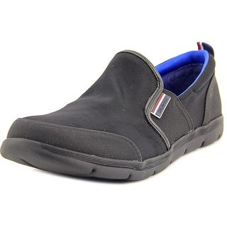 Tommy Hilfiger Larson Women Round Toe Canvas Black Loafer