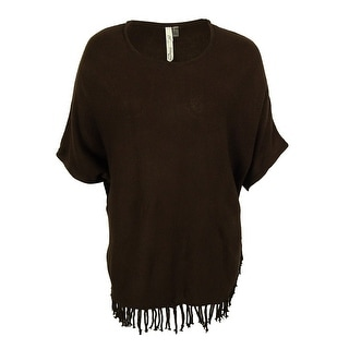NY Collection Women's Knit Fringe Sweater - 1x