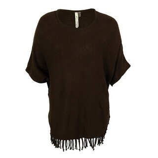 NY Collection Women's Knit Fringe Sweater
