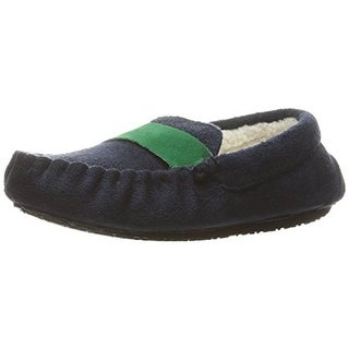Stride Rite Girls Moccasin Slippers Faux Fur Lined Faux Suede