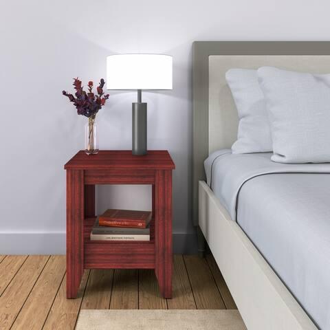 Sleep Sync Prairie Low Profile Open Shelf Nightstand