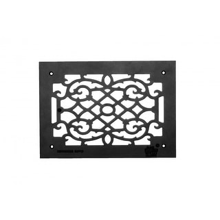 Heat Air Grille Cast Victorian Overall 10 x 14 | Renovator's Supply