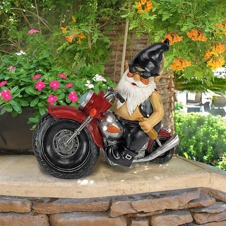 Design Toscano Axle Grease, the Biker Gnome Statue