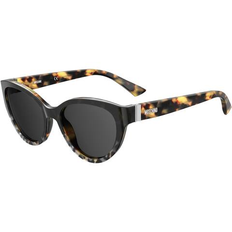 Moschino MOS065S 0PUU 55 ANIMAL HV FEMALE ADULT CAT EYE/BUTTERFLY Sungasses