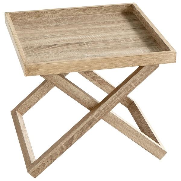 Cyan Design 08693 Savannah 20 1 2 Long Wood Tray Table Oak Veneer Free Shipping Today 26044913