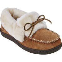 Tempur-Pedic Women's Laurin Moccasin Slipper Hashbrown Suede