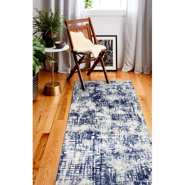 Shop For Bashian Rita Ivory Blue Contemporary Area Rug Get Free Delivery On Everything At Overstock Your Online Home Decor Store Get 5 In Rewards With Club O 32243206