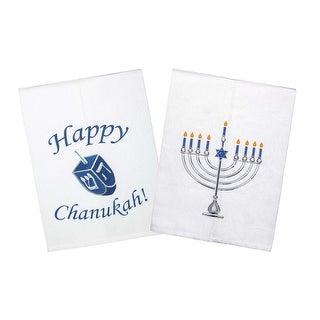 The Festival of Lights Hanukkah Printed Tea Towel