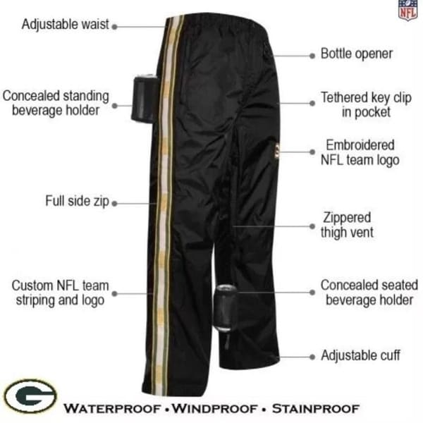 promo code 6d184 36e6c NFL Green Bay Packers Mens Size XL 40-42 Tailgate Pants $89.99