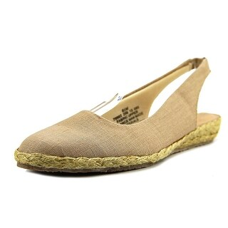 Beacon Eastport Women Round Toe Canvas Tan Espadrille