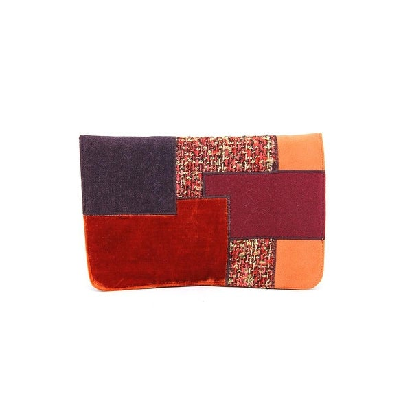 Shiraleah Patrizia Clutch Women Velour Orange Clutch
