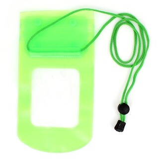 Unique Bargains Water Resistant Green Pouch Bag Cover Neck Strap for iPhone 3G 3GS 4 4G