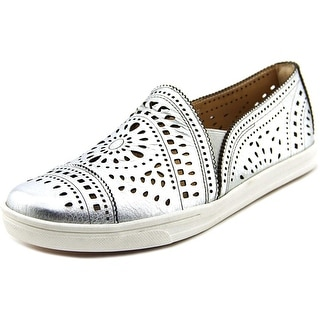 Earth Tangelo Women Round Toe Leather Silver Loafer