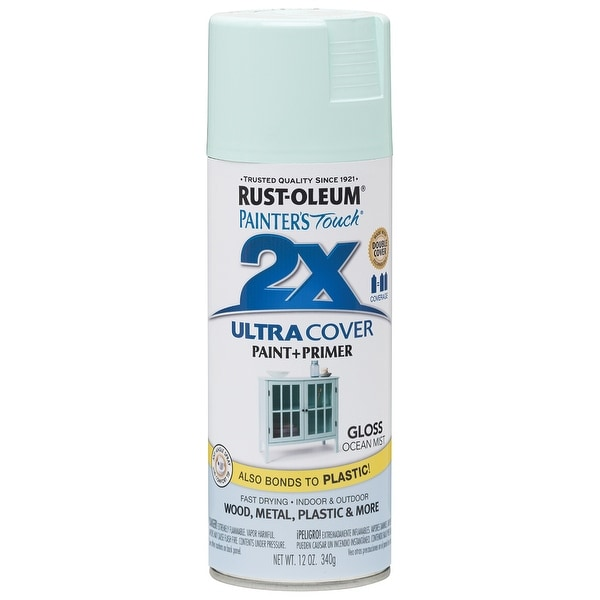 Painter's Touch Ultra Cover Gloss Aerosol Paint 12oz-Ocean Mist