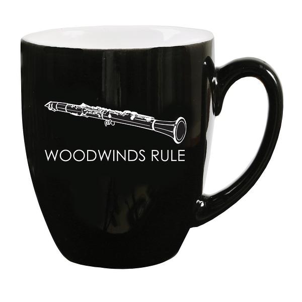 Clarinet Coffee Mug Woodwinds Rule Black Holds 16 Ounces