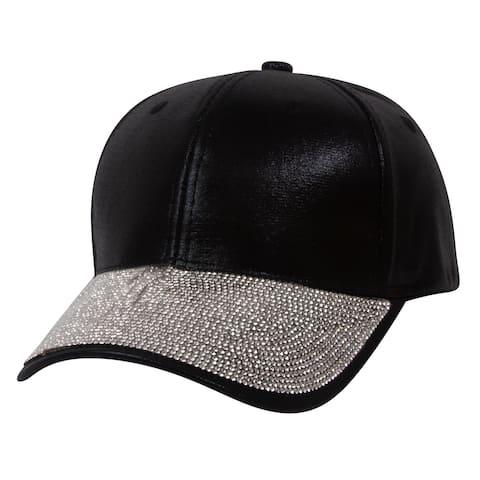 Top Headwear Shiny Studded Baseball Cap