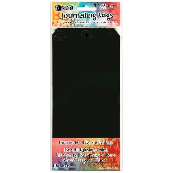 Dyan Reaveley's Dylusions Journal Tags 10/Pkg-Black #10