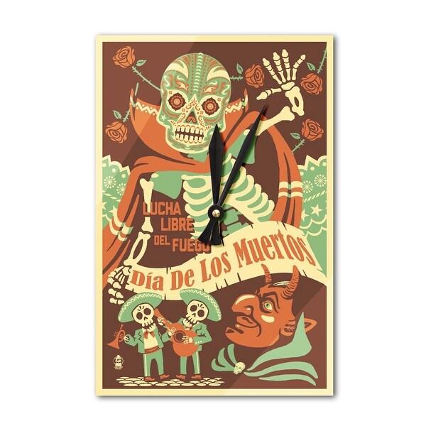 Shop Dia de los Muertos Lucha Libre del Fuego - LP Art (Acrylic Wall ...