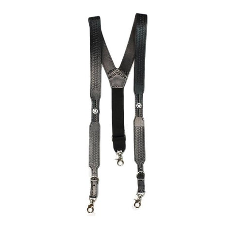 Nocona Suspenders Mens Tough Galluse Embossed Star Black