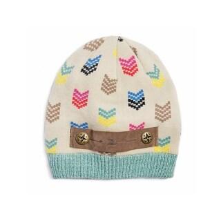 Muk Luks Hat Womens Multi Beanie Soft Lining One Size Vanilla 0034550