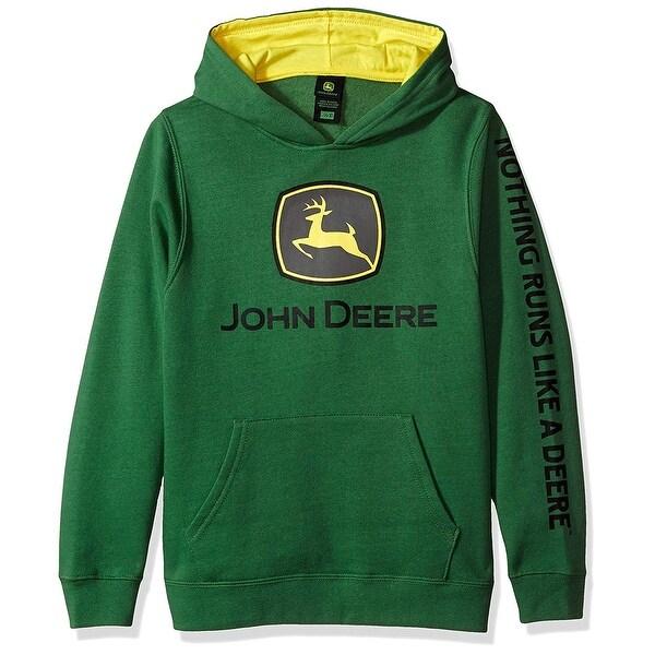 hyvä ulos x Viimeisin hyvä palvelu John Deere Tractor Big Boys' Youth Pullover Fleece Hoody, Green, Size Small  / 8 - Small / 8