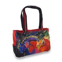 Laurel Burch Wild Horses of Fire Medium Tote Bag