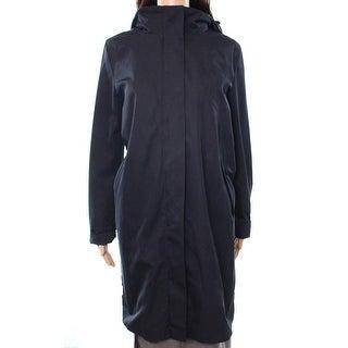 Max Mara NEW Blue Women's Size 12 Button-Zip Hooded Parka Jacket