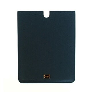 Dolce & Gabbana Dolce & Gabbana Blue Leather iPAD Tablet eBook Cover Bag
