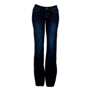 Cowgirl Tuff Western Jeans Womens Edge Natural Waist Dark Wash JWEDDK