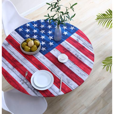 Brielle Home Fabric Printed Table Cover