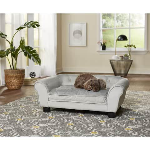 Enchanted Home Pet Charlotte Pet Sofa - Grey