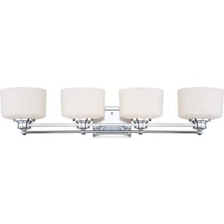 Nuvo Lighting 60/4584 Soho Four Light Bathroom Fixture with Satin White Glass