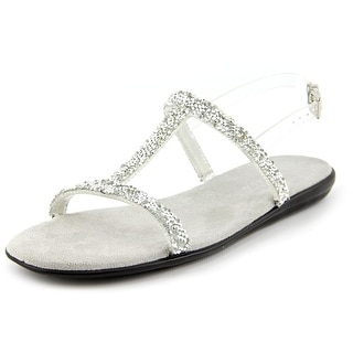 Aerosoles Good Chlue Women Open-Toe Synthetic Silver Slingback Sandal