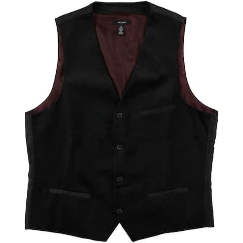 Alfani Mens Velvet Four Button Vest