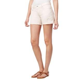 Big Star Womens Alex Denim Shorts Cut-Out Seashell Wash