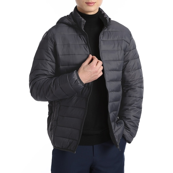Mens Packable Down Hooded Puffer Jacket by  Today Only Sale