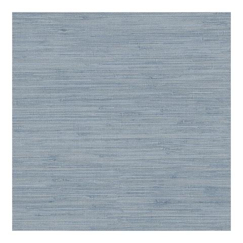 Waverly Blue Faux Grasscloth Wallpaper - 20.5 x 396 x 0.025