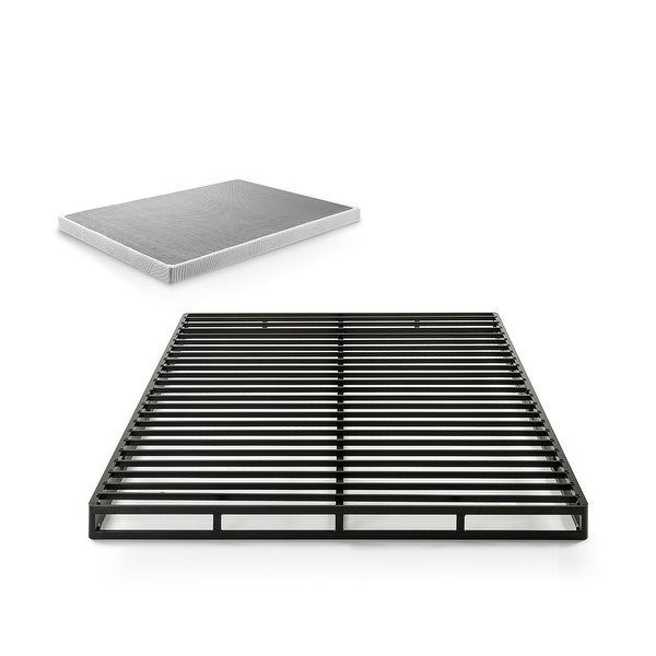 Priage by ZINUS Quick Lock Metal Box Spring, 4 Inch Mattress Foundation. Opens flyout.